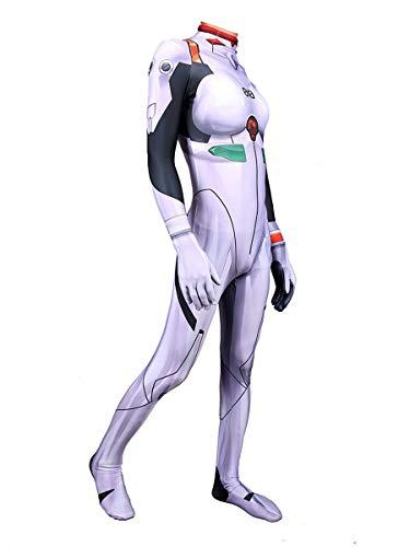 CXYGZLJ Neon Genesis Evangelion Ayanami Traje de Batalla, Cosplay Anime Tights Traje de Halloween, Adultos Unisex Los nios Conjuntos de SIIAMESOS Vestido Elegante,Men L