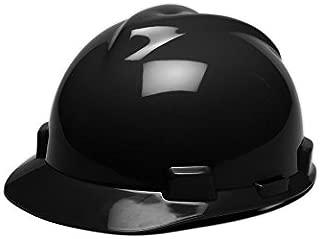 MSA 475235 V-Gard Hard Hats with Staz-On Suspension, Standard, Black, Standard