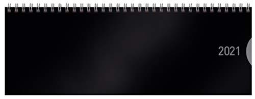 Tischquerkalender Classic Colourlux schwarz 2021: 1 Woche 1 Seite; Bürokalender mit nützlichen Zusatzinformationen; Format: 29,8 x 10,5 cm