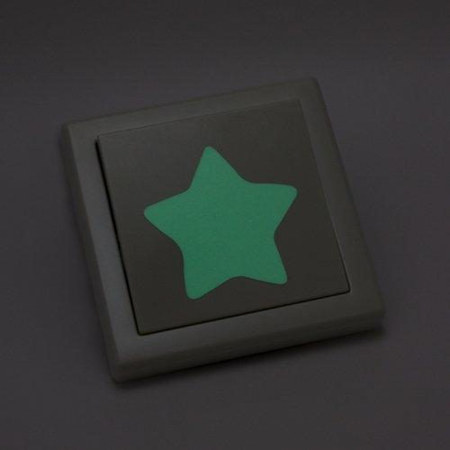 WANDKINGS Leuchtaufkleber für Lichtschalter / 8 Sterne/im Dunkeln Leuchtend
