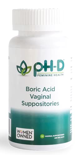 pH-D Feminine Health - 600 mg Boric Acid Suppositories - Woman Owned - Alternative Support for Vaginal Balance...