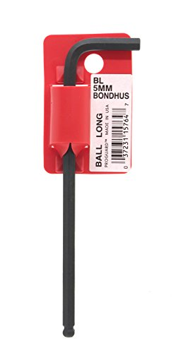 Starrett 15764 Cles coudees longues a boule metrique avec code barres, Rouge
