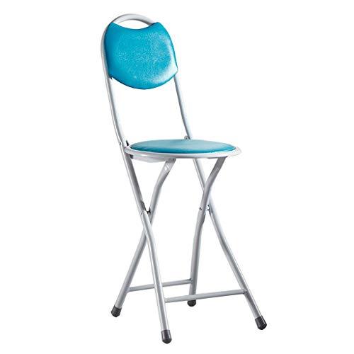 WYH Silla plegable resistente para el hogar, silla de comedor portátil, banco pequeño, resistencia a la presión