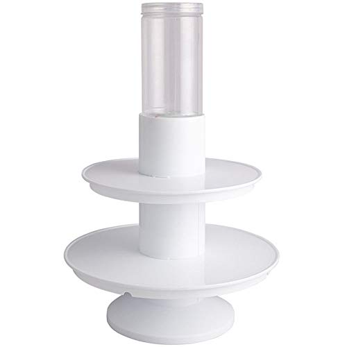 Liuxiaomiao Cupcake Stand Tweekleurige ronde kolom Wedding Cake Display Stand, Pop-up verrassing Gift Cake Stand, Ideaal voor verjaardagsfeesten en evenementen voor Party Cafe of Catering Industry