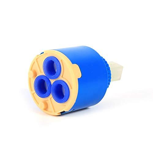 35 / 40mm Single Handle Stem de Cerámica Cartucho de Disco Grifo Mezclador de Agua Válvula de Grifo de Control Interno para Faucet Replace Part PP Plastico Azul Práctico Socialme-EU(35 mm)