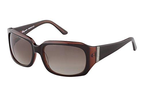 Schöne Marken Sonnenbrille für Damen von Burgmeister mit 100% UV Schutz | Sonnenbrille mit stabiler Polycarbonatfassung, hochwertigem Brillenetui, Brillenbeutel und 2 Jahren Garantie | SBM202-272