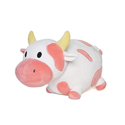Avocatt Pink Cow Plush Toy - 10 Inches Plushie Stuffed Animal - Hug and Cuddle with Squishy Soft Fabric and Stuffing - Cute Cow Gift for Boys and Girls