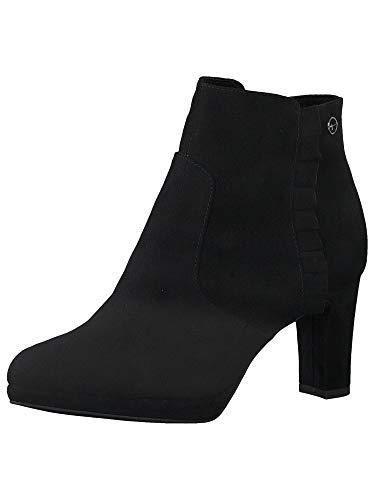 Tamaris Damen Stiefeletten, Frauen Ankle Boots, reißverschluss weiblich Ladies Women's Women Woman Freizeit leger Stiefel Lady,Black,39 EU / 5.5 UK