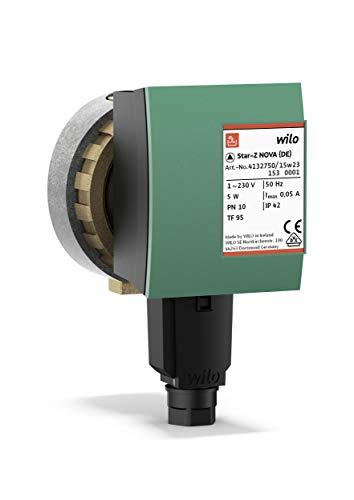 Wilo-Star-Z NOVA, Hocheffiziente Trinkwasser- Zirkulationspumpe, Nassläufer, Baulänge 84 mm, RP 1/2