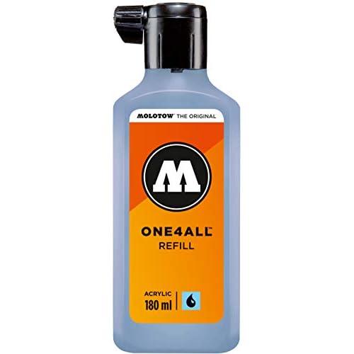 Molotow MO692202 Refill ONE4ALL - Ricarica per pennarello indelebile 180 ml, 1 pezzo, ceramica pastello chiaro