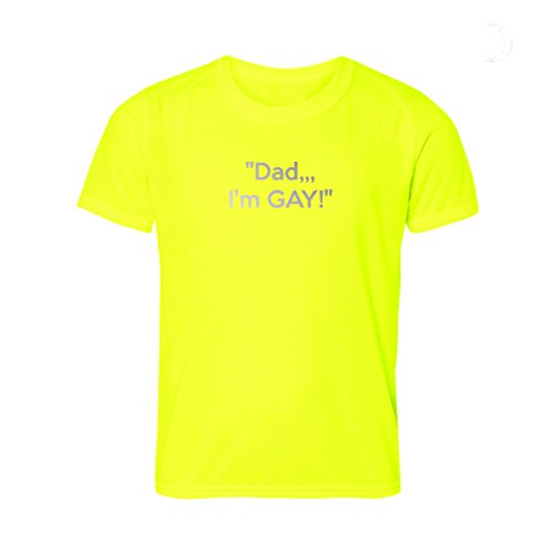 MovoBright Pa Ik ben Gay Tshirt LGBT Gay Pride Top Humorous komen uit zin in reflecterende tekst letters