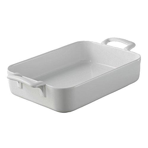 REVOL Belle Cuisine Rectangular Roasting Dish, 3.85 QT - White