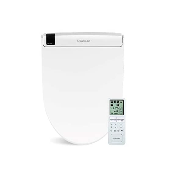 SmartBidet SB-3000 Electric Bidet Toilet Seat for Elongated Toilets with Wireless Remote Control with Screen, Unlimited… 1 All the Features You Imagine in One Model Posterior Wash is for His/Her Back. Feminine Wash is a gentler, wider wash for her front. Spiral Stream or Turbo Wash is the strongest, most concentrated wash for His/Her back. Having constipation problems? Use the Spiral Stream Wash which can help relieve constipation On Demand, Unlimited Warm Water Our Hybrid Heating System allows the water to be instantly and continuously warm at your desired temperature. No more cold water shooting up your butt in the mornings or winters! Enjoy this experience without havingn to worry about the water turning colder and colder.