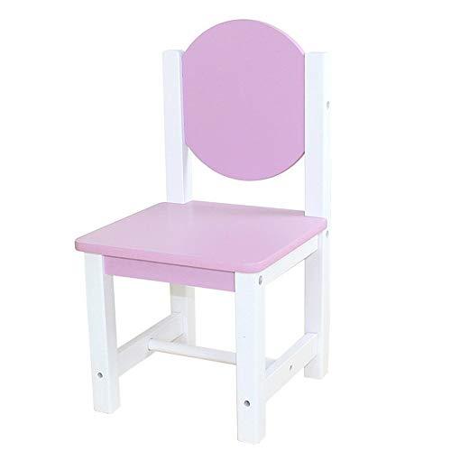 YQDSY Silla pequeña, sillón, silla de bebé, silla de comedor para niños, mesas y sillas para niños, taburetes de madera maciza, dibujos animados de jardín de infantes hko/Púrpura
