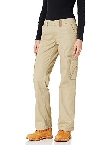 Dickies Damen Cargo-Hose mit geradem Bein - Beige - 42