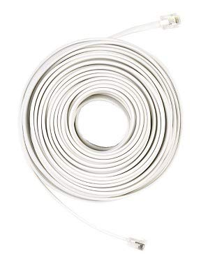 50 ft. Telephone Line Cord - White-CE Tech-50FT LINE Cord 4C WH