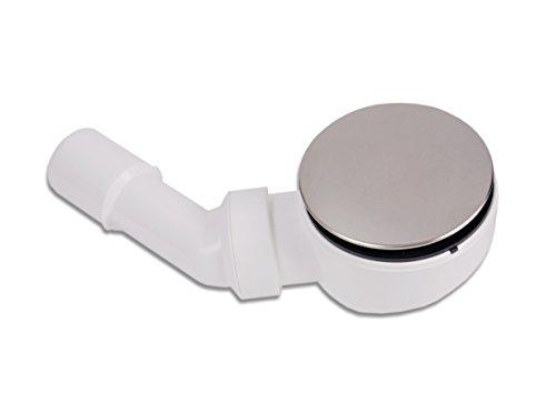 AQUADE Edelstahl Ablaufgarnitur für Duschwanne Duschtasse 114/90 mm Flache Pop Up Ablaufgarnitur mit Geruchsverschluss Dusche Zubehör