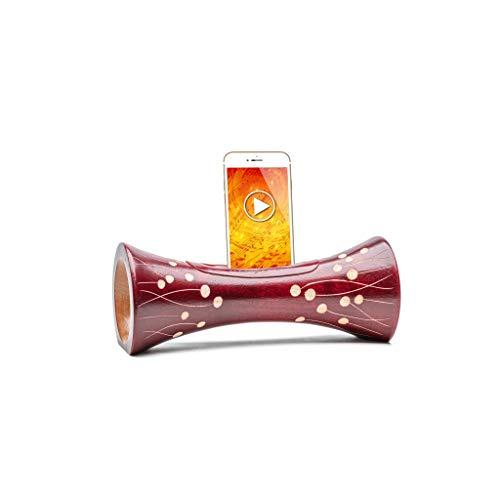 Enceinte en Bois Compatible Tout téléphone, amplificateur Naturel de Son en Bois, hautparleur en Bois, Enceinte Acoustique en Bois, Station d'accueil et Support de Smartphone, Cadeau Insolite