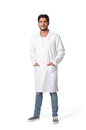 ZOLLNER Bata de Laboratorio Hombre, algodón, Blanca, Talla 44, Otras Tallas