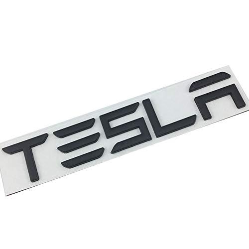 NMDNNJ Adecuado para Tesla Model3/Y/X/S. Logotipo del AutomóVil, Maletero, Maletero, Letras De AleacióN De Zinc, Etiqueta Trasera