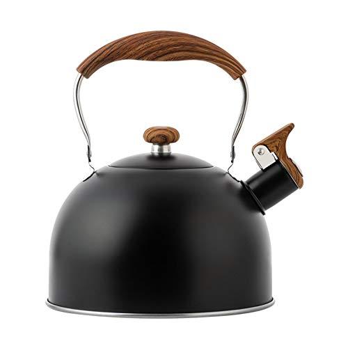 likeitwell Hervucha de hervidor hervidor de té con silbido de la Olla de hervidor de té de silbido de Acero Inoxidable de 25L ollas de té para la Parte Superior de la Estufa Tetera de té Outgoing