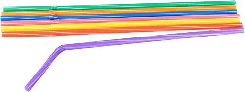 Fackelmann Knicktrinkhalme, Strohhalme aus Kunststoff, Trinkhalme mit Perforation (Farbe: Bunt), Menge: 200 Stück