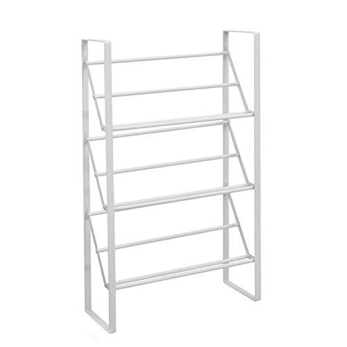 Zapatero de metal de gran capacidad de 3 capas, estante de almacenamiento retro para dormitorio, organizador de zapatero para piso de armario portátil, zapatero multifuncional que ahorra espacio par