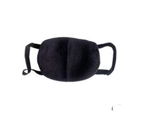 Vocado Reusable Anti Pollution Mask/cotton Mouth Nose Cover Unisex Anti-pollution & Dust Mask (Black1)