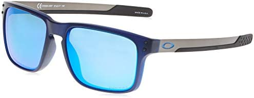 Oakley Men s OO9384 Holbrook Mix Polarized Rectangular Sunglasses Matte Translucent Blue Prizm product image