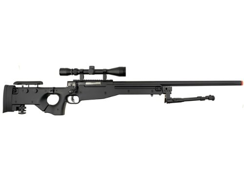 well l96 spring sniper airsoft rifle w/ bi-pod and scope(Airsoft Gun)