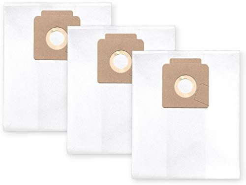 3x Vlies Staubbeutel Filtersack für FEINSTAUB/BAUSTAUB 6-lagig für Nilfisk Multi 20 (CR, Inox, T Inox), Multi 30