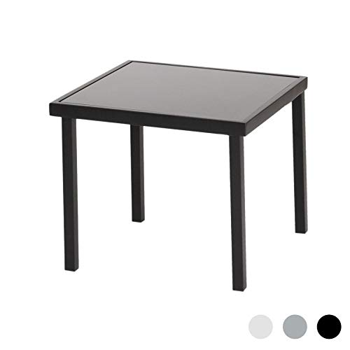 Harbour Housewares Sussex Garden Side Table - Metal Outdoor Patio Furniture - 44 x 44cm - Black