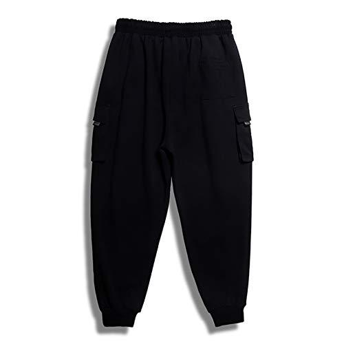 Pantalones Deportivos para Hombre, Moda, Color sólido, Todo fósforo, Simplicidad, Informal, cómodos, Pantalones Sueltos, Todos los tamaños de Cintura XL