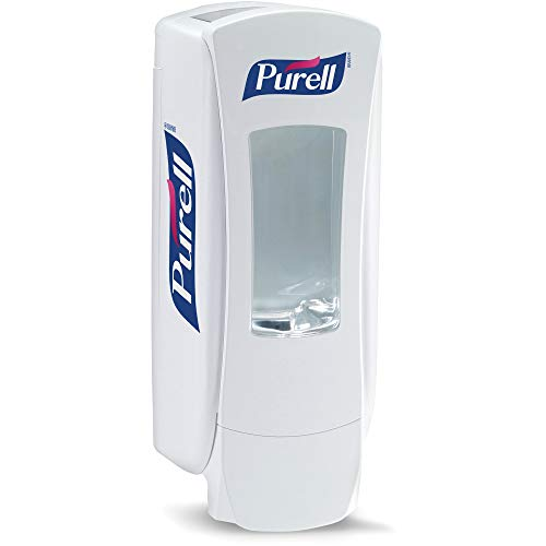 PURELL ADX-12 Push-Style Hand Sanitizer Dispenser, White, for 1200 mL PURELL ADX-12 Sanitizer Refills (Pack of 1) - 8820-06