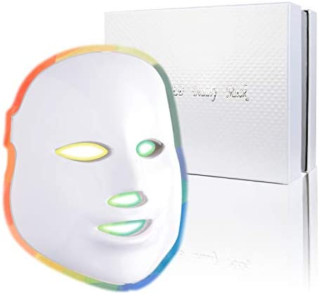 Photon Skin Rejuvenation Face Neck Mask LED Photon Red Blue Green Therapy 7 Color Light Treatment product image