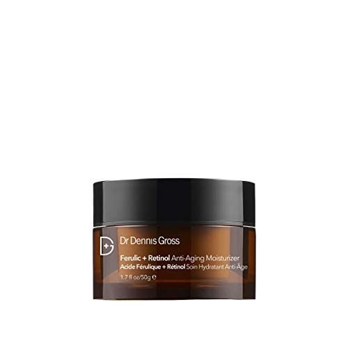 Dr. Dennis Gross Ferulic + Retinol Anti-Aging Moisturizer: for Rough and Aging Skin with Lines & Wrinkles, 1.7 oz