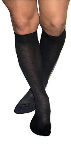 DREAM SOCKS 6 paia Calze da uomo lunghe in pregiato cotone 100% FILO SCOZIA,prodotto MADE IN ITALY (43/46, blu)