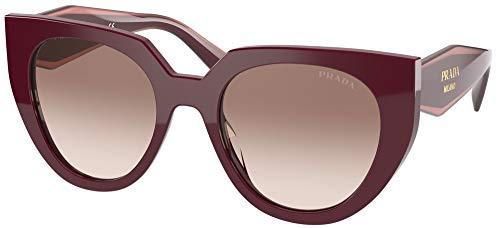 Prada Gafas de Sol MONOCHROME PR 14WS Burgundy/Brown Shaded 52/20/140 mujer