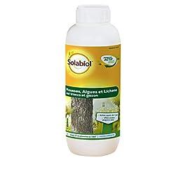SOLABIOL SOMOUS1 Mousse Algues Et Lichens sur Tronc Et Gazon, Efficace, Rapide