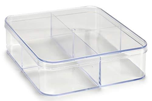 AR Caja metacrilato Organizador, 12x12x3 cm