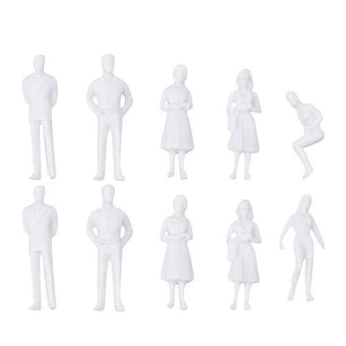 NUOBESTY 10 Piezas Modelo Trenes Arquitectónicos Escala 1: 75 Figuras sin Pintar Sentado Y de Pie Modelos de Personas para DIY Paisaje Paisaje Miniatura Jardín de Hadas Decoración 27Mm