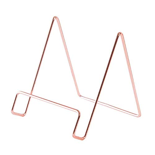 Iron Art Display Stand Dish Rack,Plate Bowl Picture Frame Photo Book Pedestal Holder Home Decoration Storage Rack (Color : Gold)