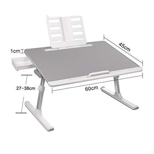 Campingtisch Klappbar-Campingtisch Kleine Tabelle auf dem Bett angehoben werden kann und absenkbaren Klapptisch Laptop-Tisch Simple Home Beistelltisch Faule Schreibtisch-Computer-Tray Frühstück Bett-B