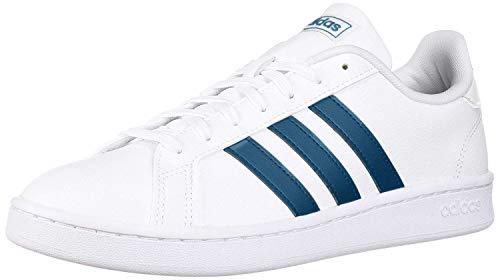 adidas Women's Grand Court, white/legend marine/white, 8 M US
