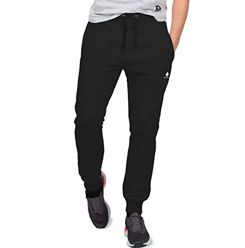 urban ace | Jogginghose für Herren im Athleisure Trend | Angesagte Sweatpants für Fitness u. Freizeit | in schwarz u. grau| S -M-L (L, Schwarz)