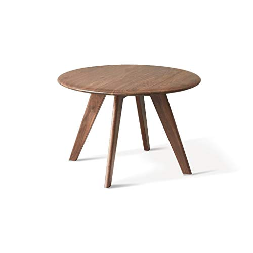 FSAQ Wooden Coffee Side Tables Modern Black Walnut Living Room End Tables Sofa Small Round Side Tables for Office Furniture (Color : Wood, Size : 55 * 36cm)