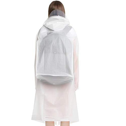 Aurely Regenjas, winddicht, voor mannen en vrouwen, regenbescherming, isolatiejurk, regenjas, poncho's geaccepteerd wit