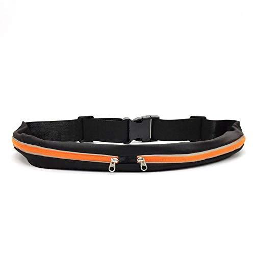 Marsupio Waist Bag Sport Runner Marsupio Cintura da Corsa Palestra Telefono per Soldi Custodia con Cerniera Cintura Regolabile Arancione