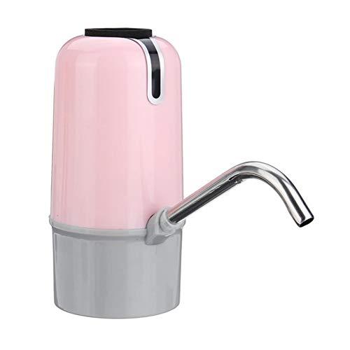 DFKDGL Dispensador automático de los hogares de Agua, Bomba de Agua Recargable USB portátil, Bomba Botella de Bebida inalámbrico Inteligente, Manual Máquina de la Prensa (Color : Pink)