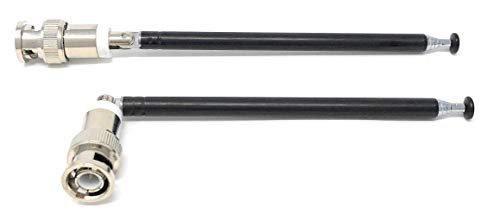onlineservice-usa A Pair Telescopic Antennas BNC Connectors for Portable Radio Scanner